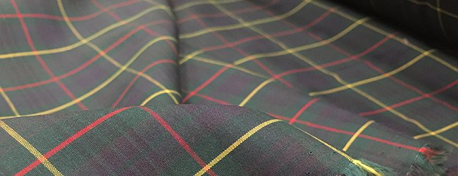 green tartan fabric