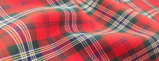 red tartan fabric