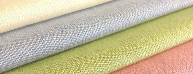 coloured linen fabrics