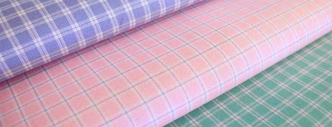 checked two ply fabric