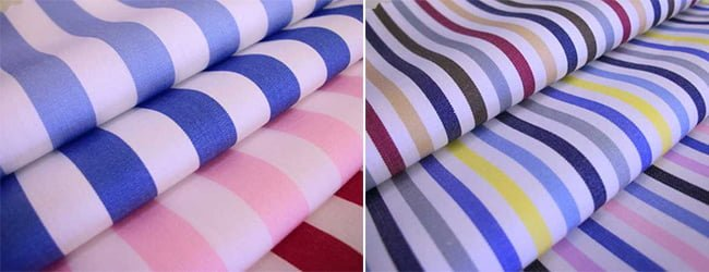 thick striped coloured cotton shirt fabric