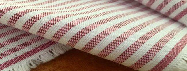 Striped Autumn Coloured Fabric