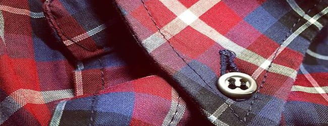 red and blue check shirt fabric