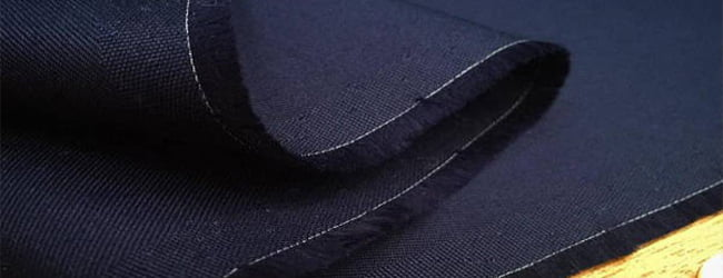 blue coloured cotton fabric
