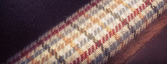 copper coloured stripe fabric