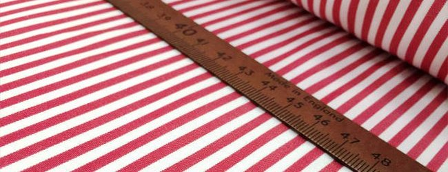 autumn red striped fabric