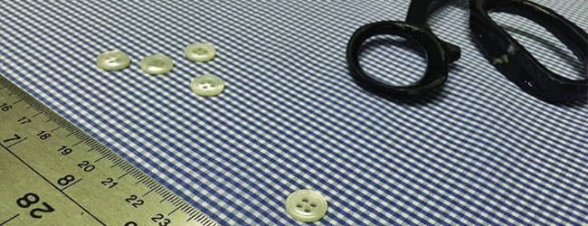 poplin fabric and buttons