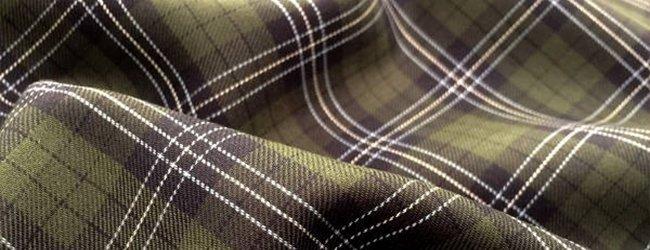 green tartan cotton fabric
