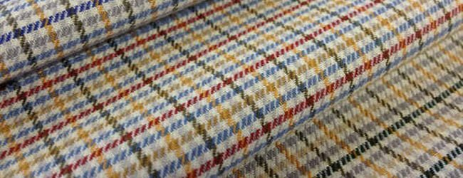kendal rust check cotton fabric