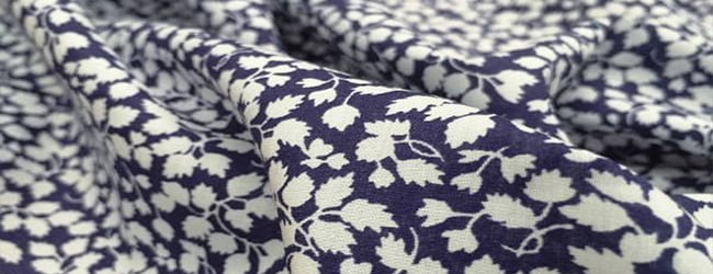 Devonshire blue print fabric