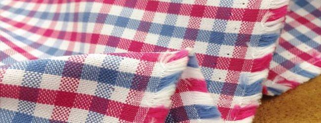 check coloured oxford fabric