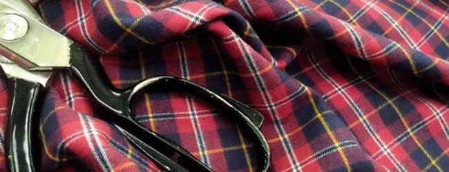 tartan brushed cotton fabric