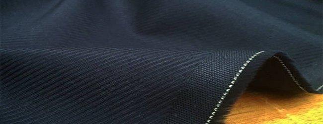 Malham navy cotton fabric