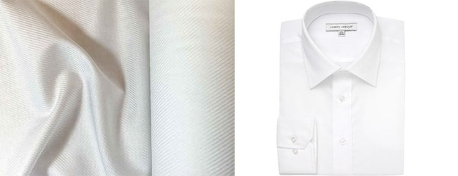 a classic white dress shirt