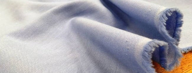 blue shirting fabric on offer