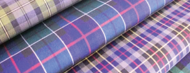 burns night coloured tartan fabrics