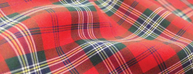 red mclean tartan fabric