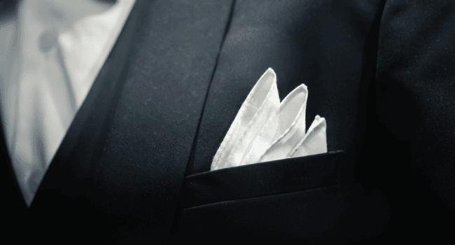 tuxedo pocket square