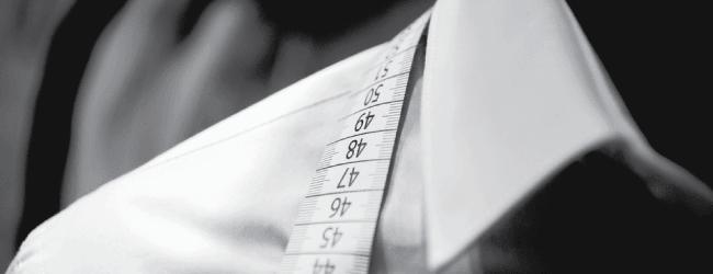 measuring dress shirt