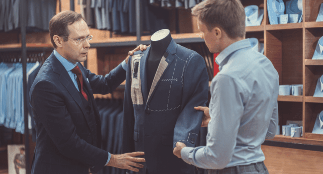 conversation with tailor