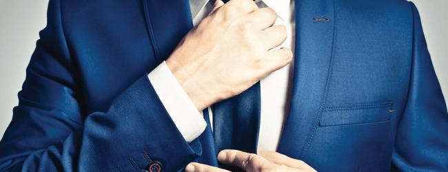 blue suit for business