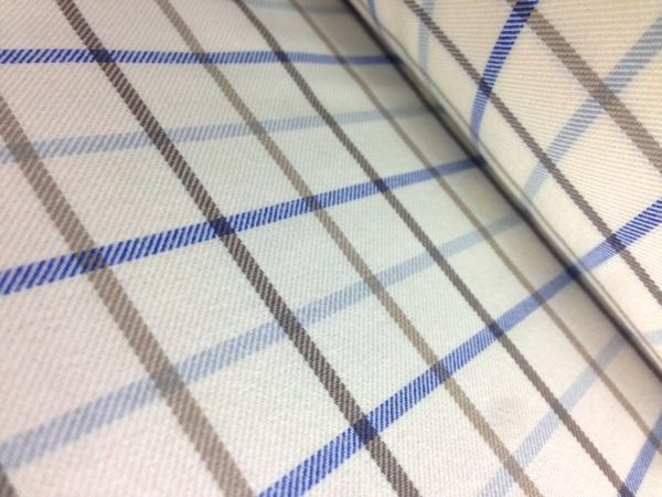 Fife 20 brown brushed cotton check fabric