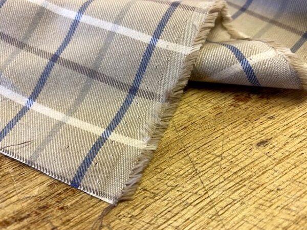 Fife 25 brown check fabric