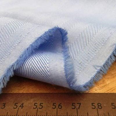 Balmoral 230 sky herringbone fabric