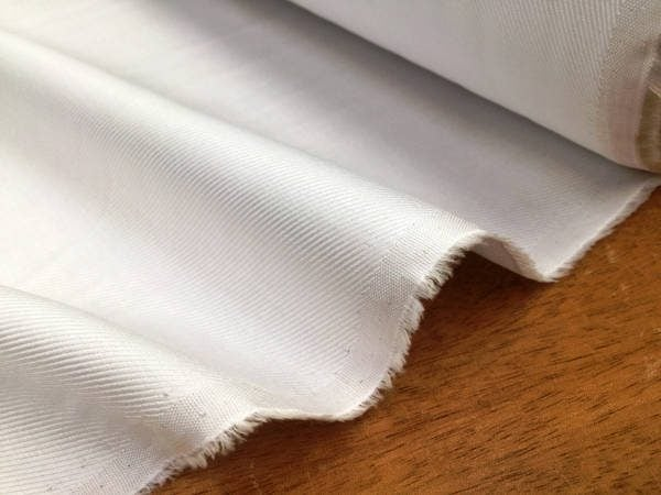 Balmoral twill white fabric