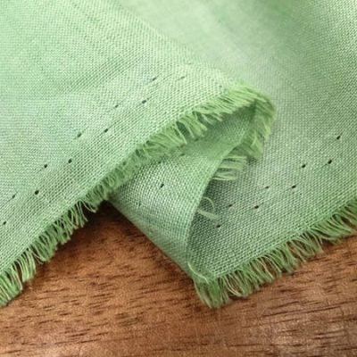 Barbados Plain Lime Green Linen/Bamboo Fabric