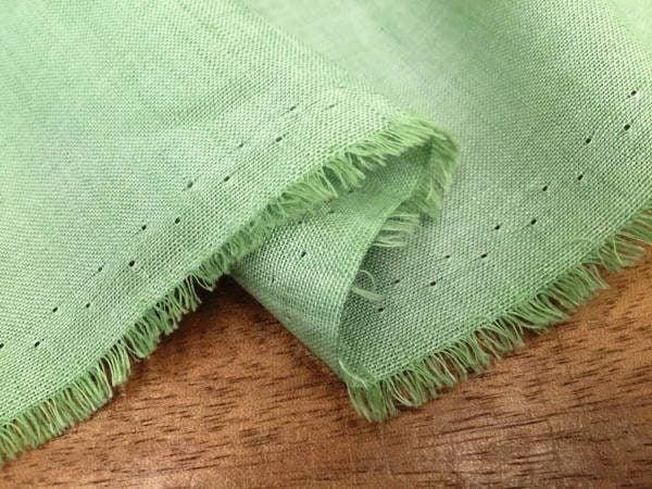 Barbados Plain Lime Green Linen/Bamboo Fabric