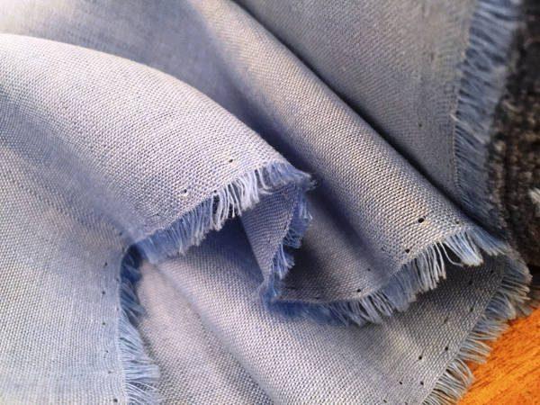 Barbados Plain Powder Linen and Bamboo Fabric