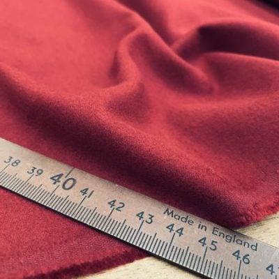 Bronte maroon moleskin fabric