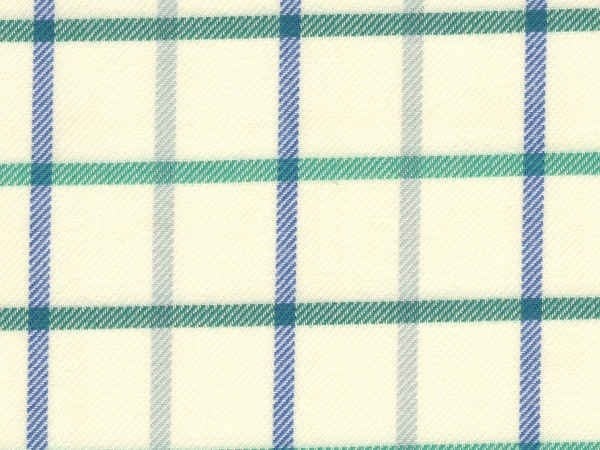 Fife 20 green brushed cotton check fabric