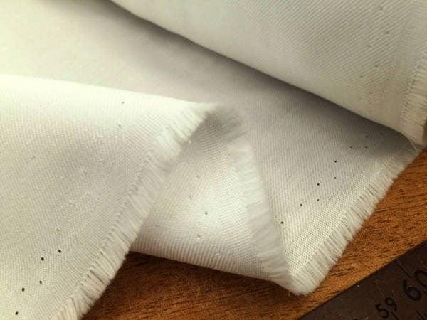 Fife plain cream brushed cotton fabric
