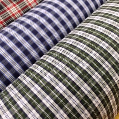 Hampton 113 green check fabric