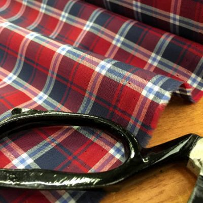 Hampton 114 red check fabric