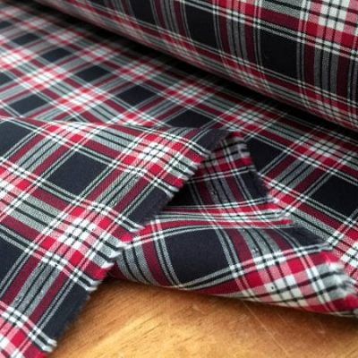 Hampton 117 navy check fabric