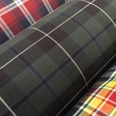 Hampton 130 green check tartan fabric