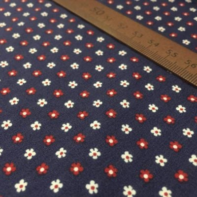 Hampton 403 red printed fabric