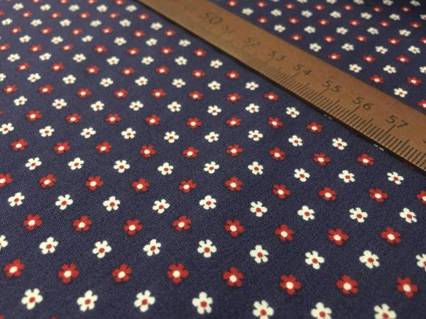 Hampton 403 red printed fabric