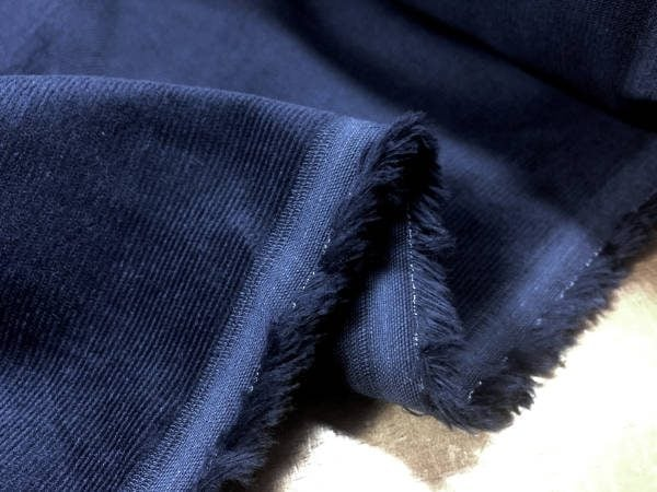 Haworth navy babycord fabric