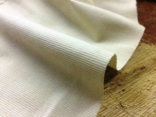 Haworth stone babycord fabric