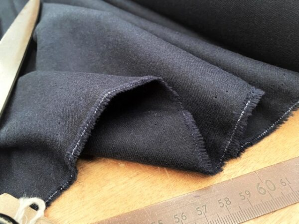 Sterling plain navy solid fabric