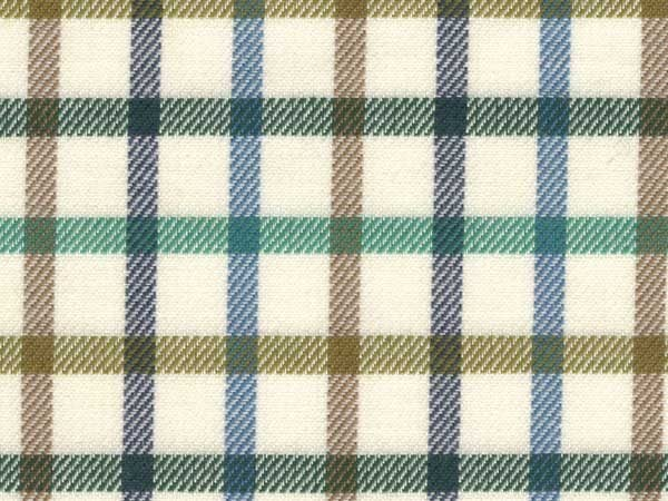Kendal stag green check fabric