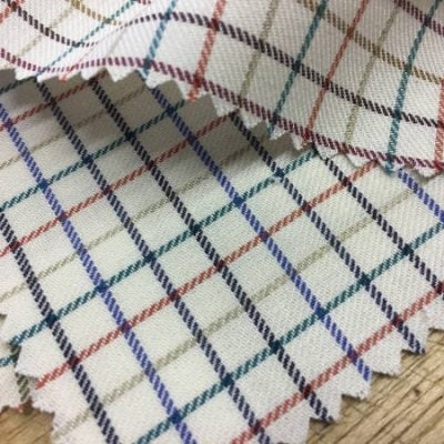 Kendal polo blue check fabric
