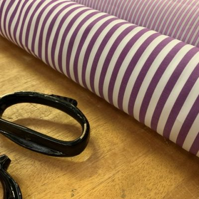 King AP Purple Striped Fabric