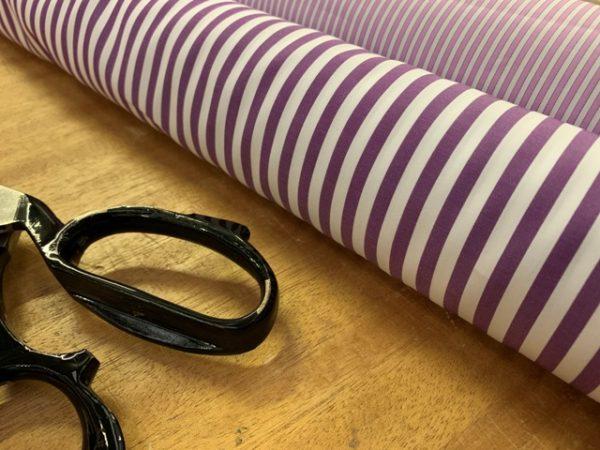 King AP Purple Striped Fabric