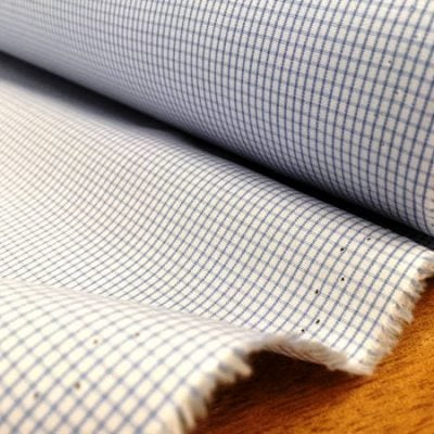 King AC1 sky check fabric