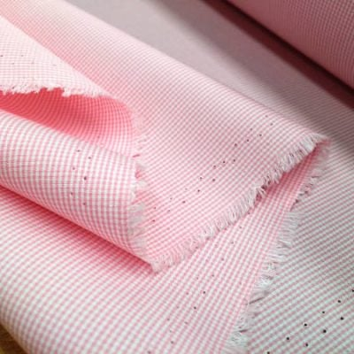 King AC8 pink check fabric